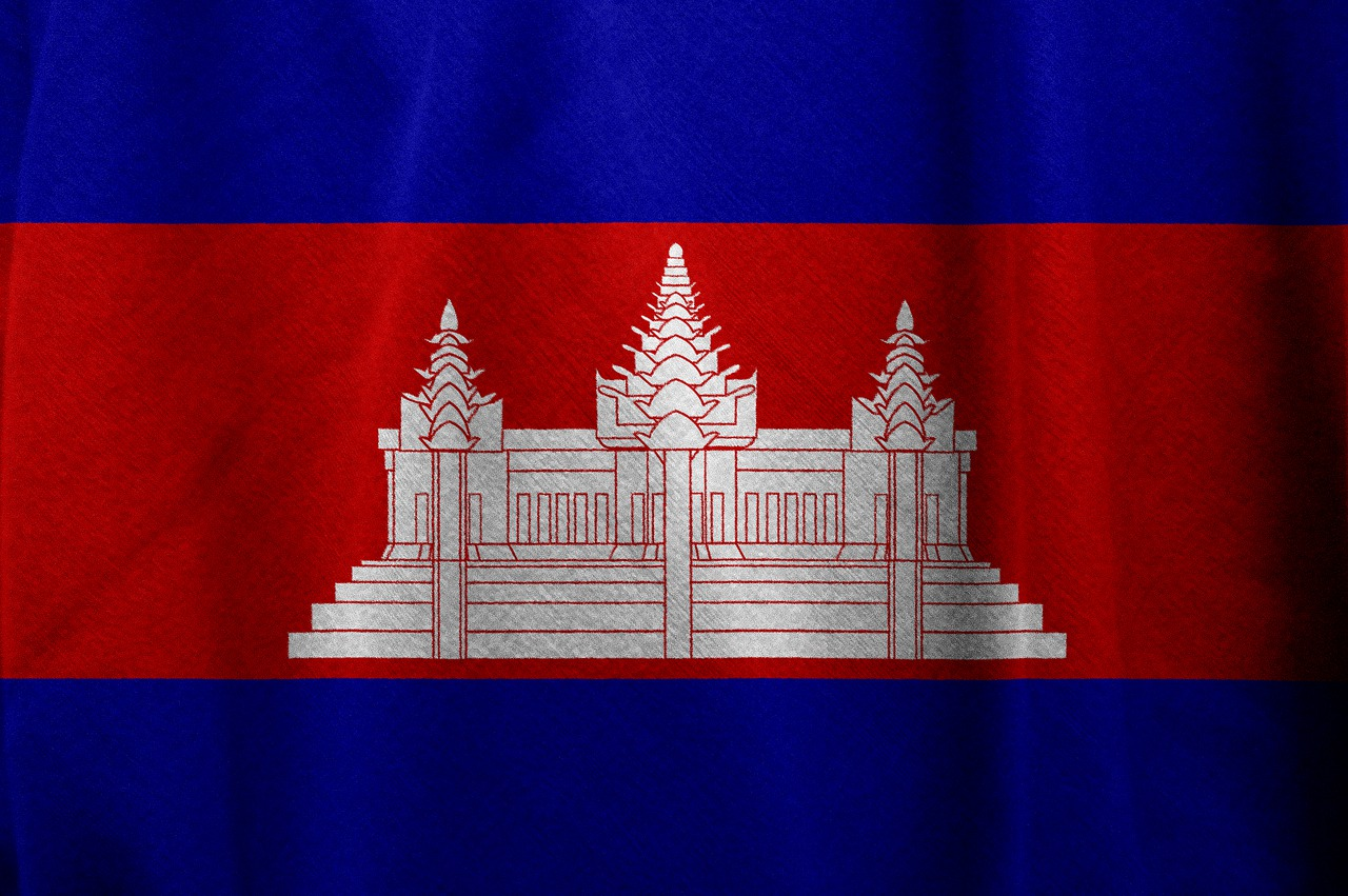 Флаг камбоджа фото
